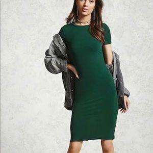 Forever 21 Body Con Midi Dress